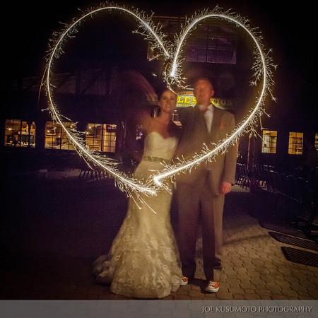 picture of sparklers at wedding
