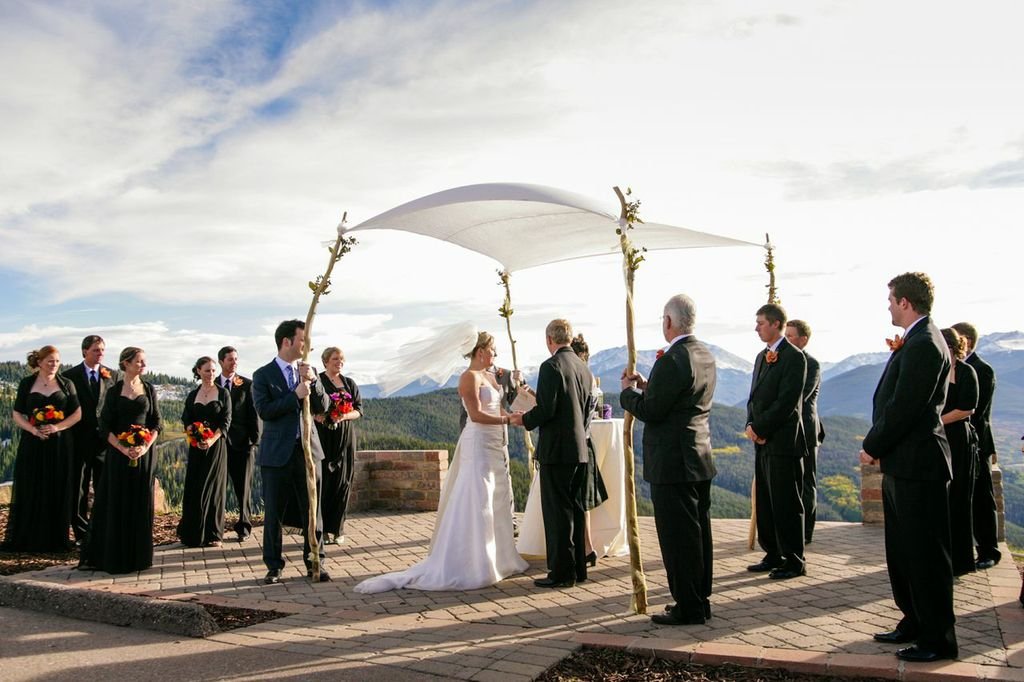 picture of the vail wedding deck