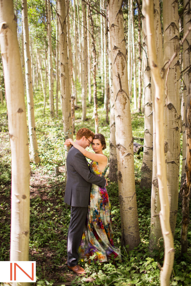 picture of a wedding in Breckenridge, Colordo