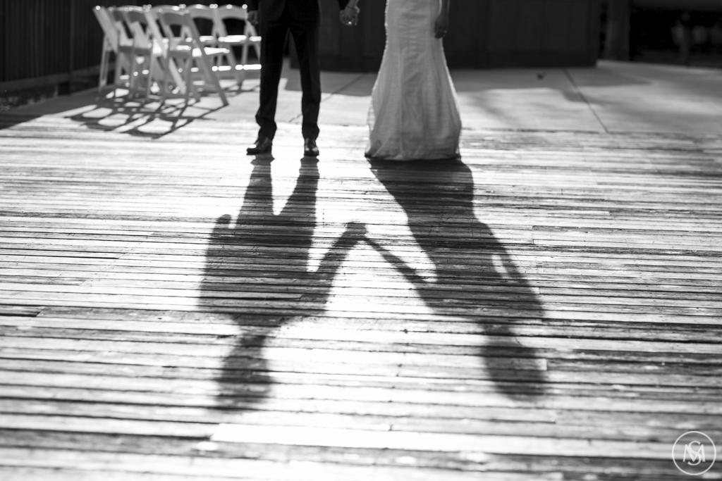 Wedding on deck at Timber Ridge