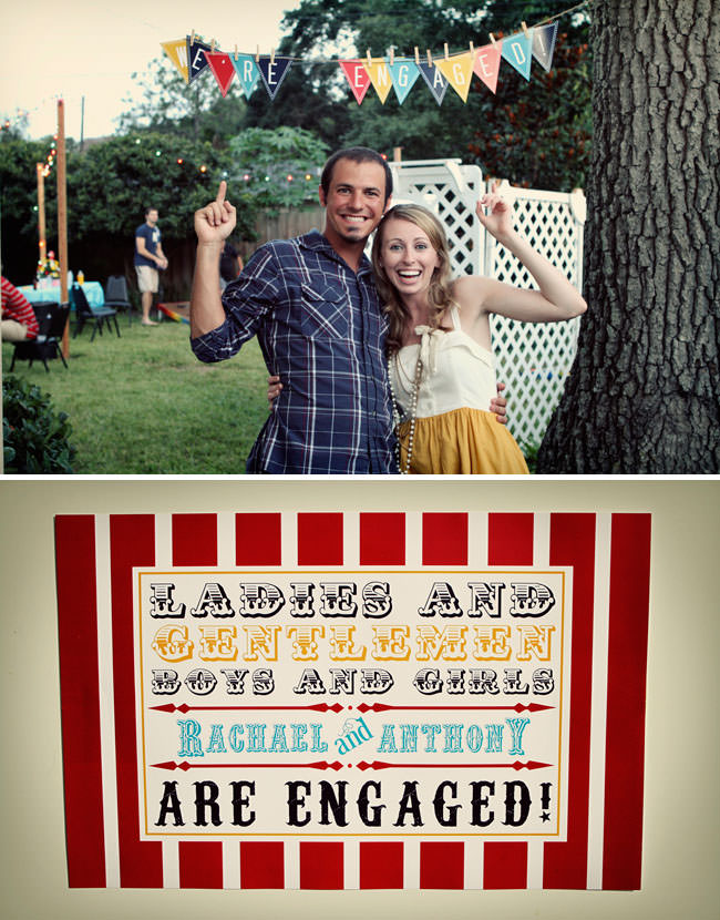 picture of an engagement party