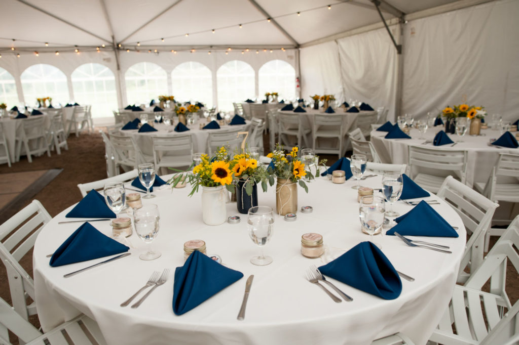 picture of a tented wedding reception