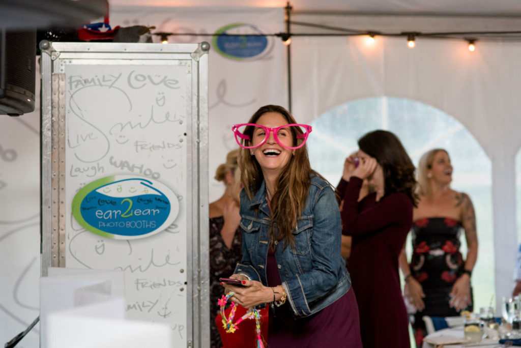 picture of a photobooth at a wedding