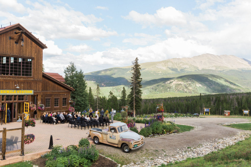 picture of a wedding at Ten Mile Station