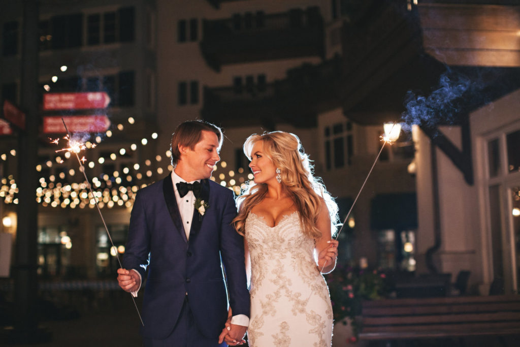 picture of a bride and groom