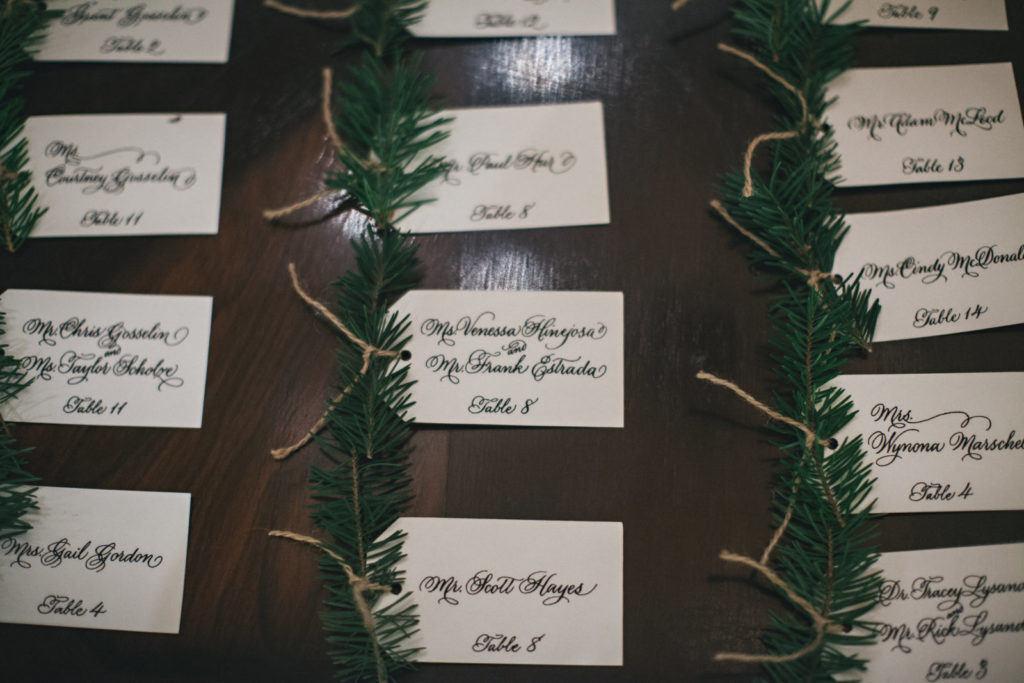 Picture of escort cards