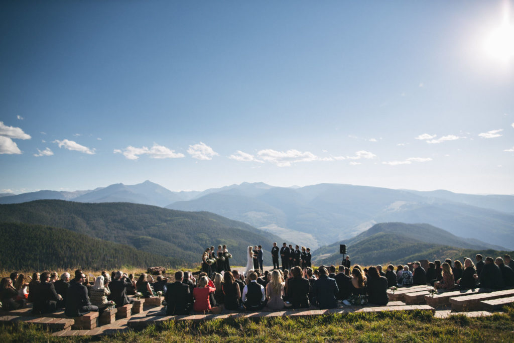 picture of a mountian top wedding