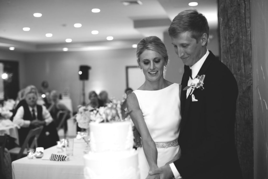photo of a bride and groom